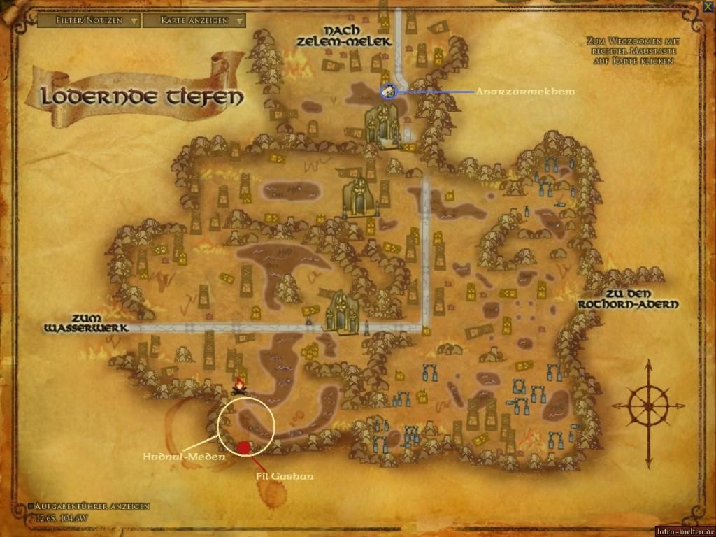Karte Lodernde Tiefen
