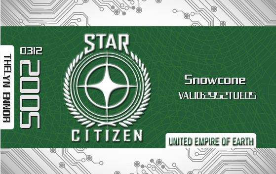Snowcone - Star Citizen Green Card
